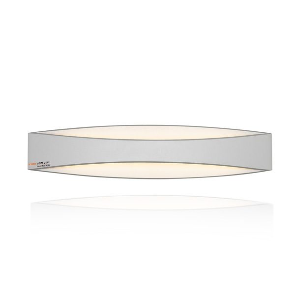 מנורת קיר אפ דאון בצבע לבן לד מובנה 929 מגיע בשלושה גדלים