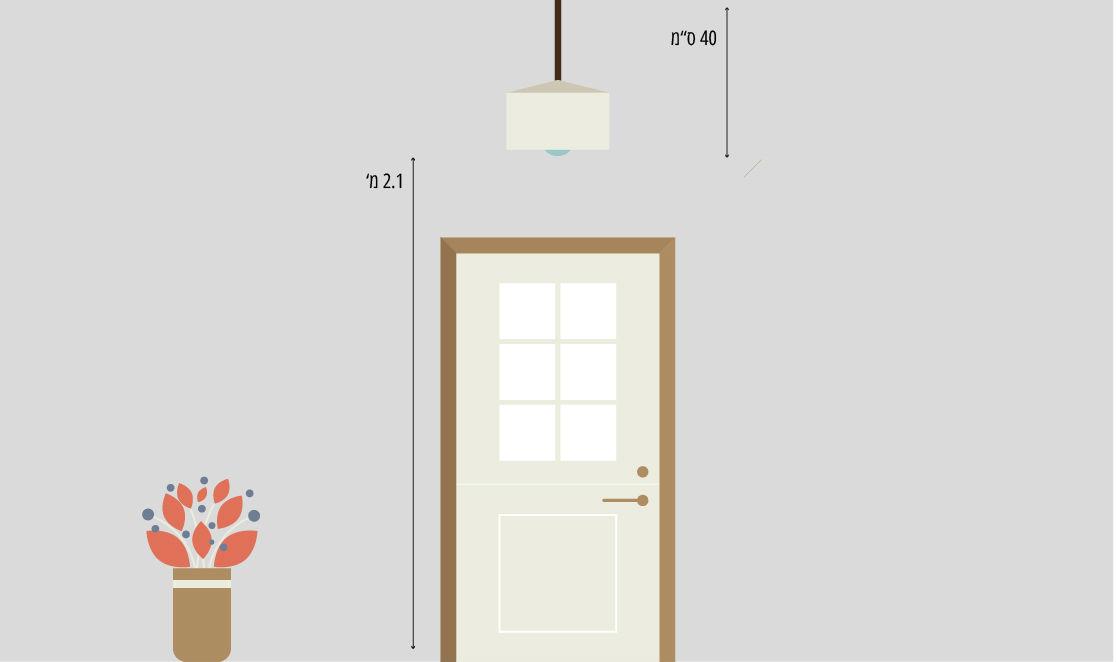 מנורת תליה בכניסה לבית