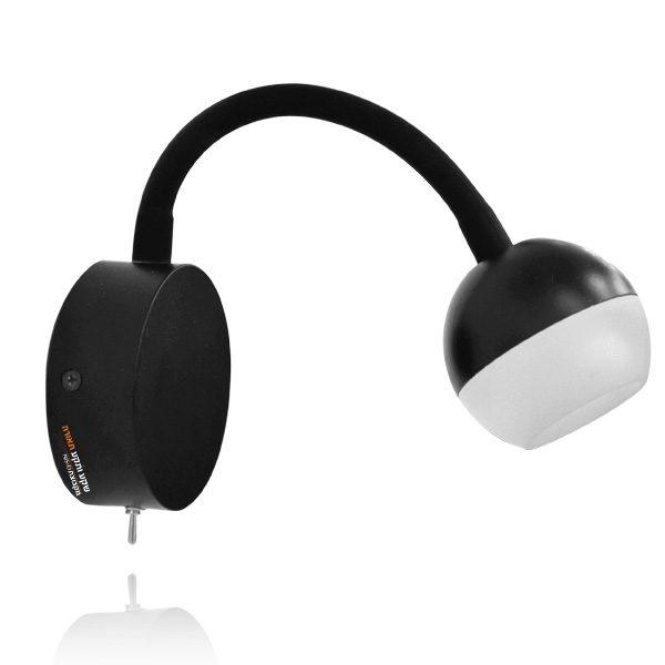 מנורת קיר לוונדו שחור
