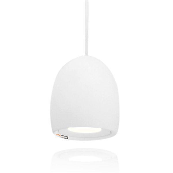 מנורת תליה אלגרו בצורת ביצה קטומה צבע לבן