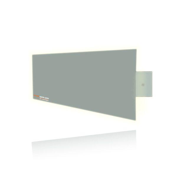 מלבן מרחב בצבע ירוק אפור עם לד מובנה לבן חם
