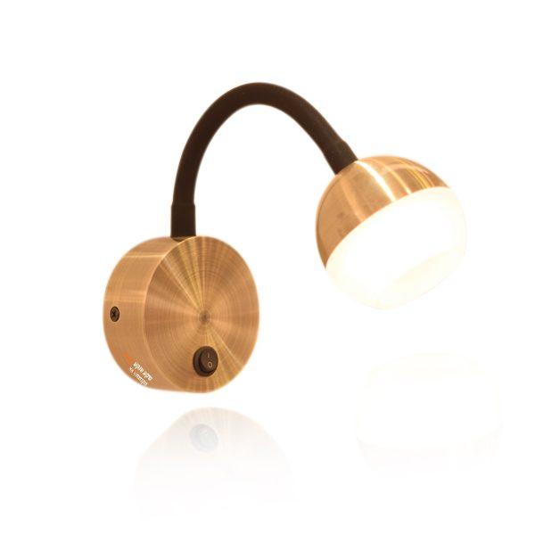 מנורת קיר לוונדו בצבע ברונזה
