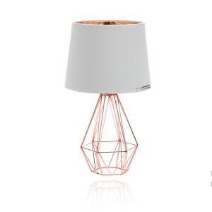 מנורת שולחן צליל בצבע לבן לא כולל נורה