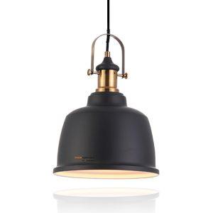 מנורת תליה פעמון וינטג' קלאב בודד שחור