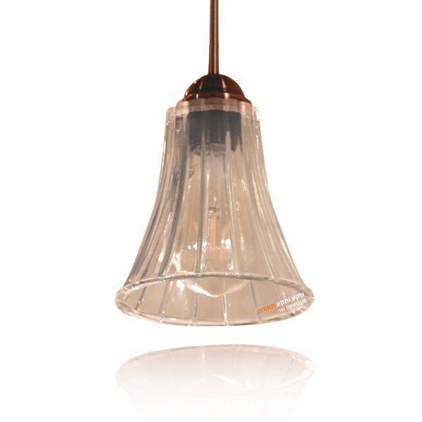 מנורת זכוכית פרח פסים תלוי