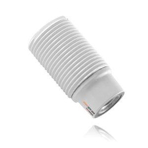 בית מנורה פלסטיק E14 לבן הברגה+טבעת