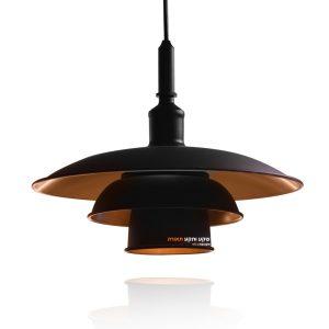 מנורת תליה שחור זהב