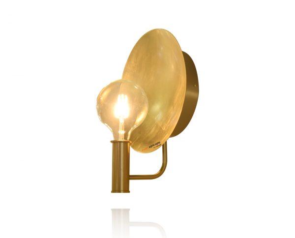 מנורת קיר עלי זהב